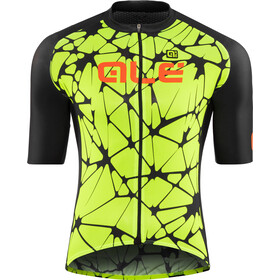 Alé Cycling Cracle Shortsleeve Jersey Herre fluo yellow-black-fluo orange